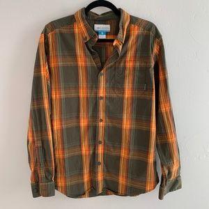 Columbia Plaid Button Down Shirt L